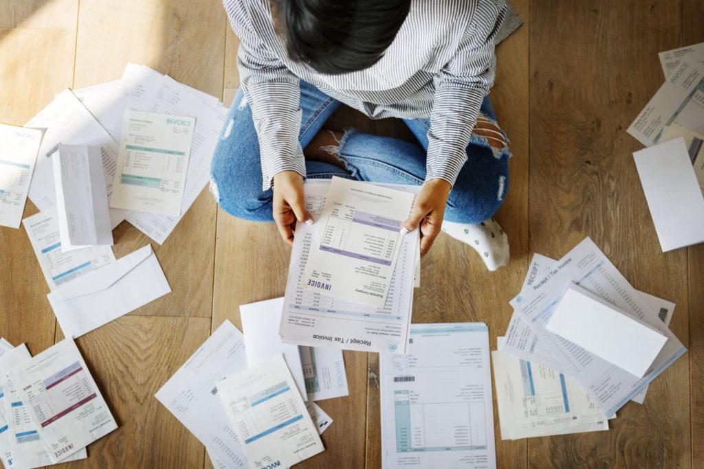 Illustrasjon trekke fra gjeld